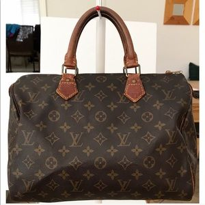 💯Authentic Louis Vuitton Monogram Speedy 30 Bag